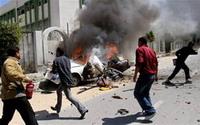 Bomb explosion thunders near major security headquarters in Gaza City