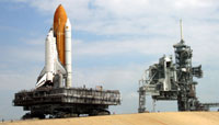 Space shuttle Discovery returns back home