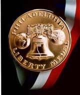 Former presidents Bush, Clinton to receive Liberty Medal