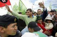 Nationalistic leads Ecuador's presidential race with an eye on the oil sector
