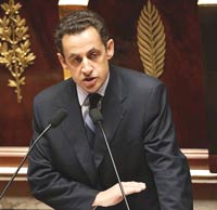 French President Nicolas Sarkozy accuses Russia of brutality in exercising its energy supremacy