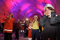 Switzerland opens world's longest tunnel under Alps
