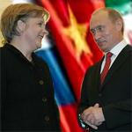 Putin calls for Russia to tap Asian markets before Merkel summit