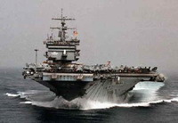 Third American aircraft carrier goes to Middle East