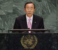 Ki-moon urges nations to quickly ratify treaty banning nuclear test explosions