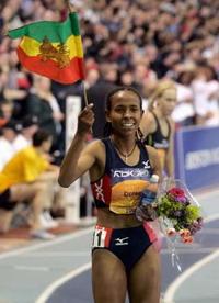 Meseret Defar breaks women's world record in 5,000 meters