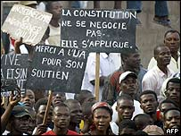 Demonstrators in Central African Republic protest against rising violence