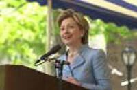 Hillary Clinton's criticism of Bush aids U.S. enemies