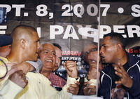 Fernando Vargas against Ricardo Mayorga in 12-round super middleweight bout