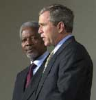 Bush, Annan discuss peacekeeping force for Darfur