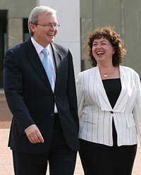 Kevin Rudd with his wife (Theaustralian)