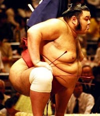 Sumo for every one: professional wrestlers give DVD lessons