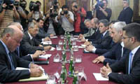 The Contact Group troika will discuss Serbia's vehement