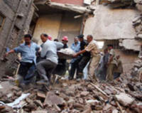 Building collapse kills three in Egypt