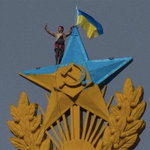 Ukrainian flag on top of Moscow iconic building triggers criminal case. 53397.jpeg