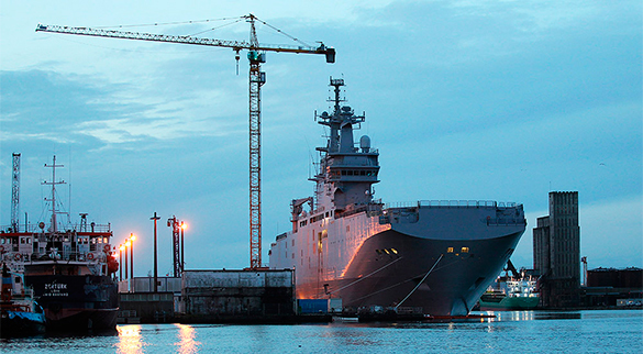France is looking for a pretext to deliver Mistrals. Mistral helicopter carrier