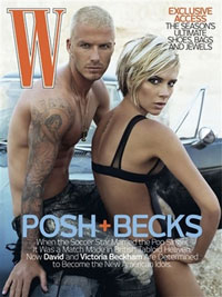 David and Victoria Beckham pose for latest issue of W magazine