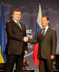 Russia's Medvedev Starts Two-Day visit to Ukraine
