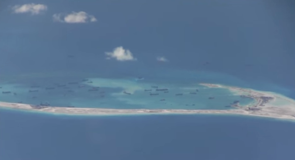 US spy aircraft discovers China building artificial islands and airstrips in South China Sea. Chinese artificial islands in South China Sea