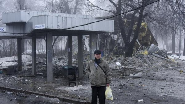 Shell explodes at bus stop in Donetsk: 13 killed. Bus stop in Donetsk shelled