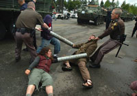 US police use force to suppress antiwar protesters, one arrested