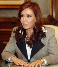 Husband-wife transfer of power:Cristina Fernandez sworn in as Argentina's president