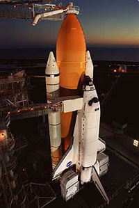 Shuttle Discovery arrives at Internatonal Space Station