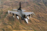 American F-16 crashes in northern Italy