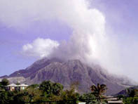 Dome of Montserrat's volcano partially collapses