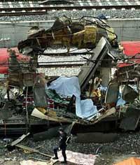 Bomb explodes at rail station in Spain's Basque region, ETA supporters blamed