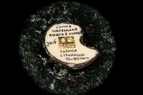 Russian scientist creates world's smallest book the size of poppy seed. World's smallest book