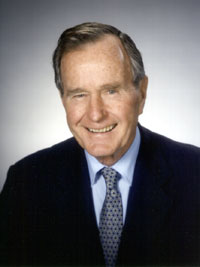 Former President George H.W. Bush in good spirits after collapse