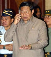 Rice praises Yudhoyono stance in talks with Iran