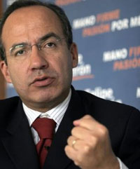 Mexican President Calderon has tough message for US President Bush