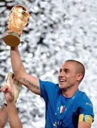 Fabio Cannavaro wins FIFA player of the year award