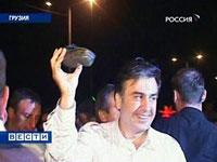 Man Throws His Shoe at Mikhail Saakashvili's Sick Head