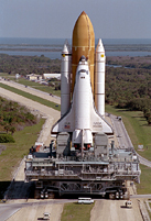 NASA begins moving space shuttle Discovery to launch pad