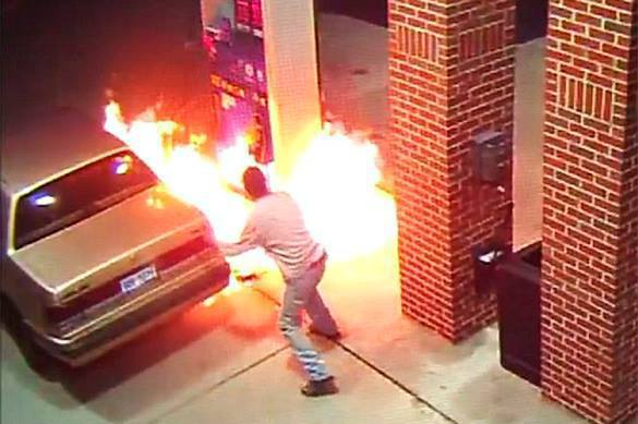 Driver sets petrol station on fire in US to kill a spider. Detroit