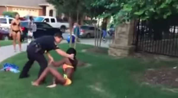 Police attack black girls in bikinis at pool party in Texas. Video. Pool party