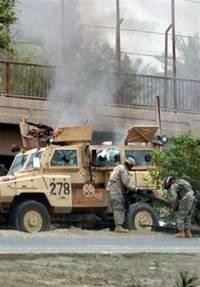 Roadside bomb kills a U.S. soldier in Baghdad