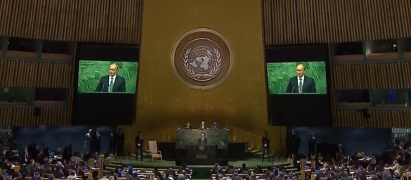 Putin speaks as key UN peacemaker, blasts US exceptionalism. Putin's speech at UN