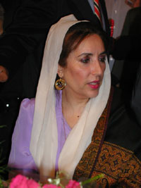 Benazir Bhutto detained in her house by police