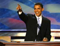 Wife of presidential candidate Barack Obama in motorbike accident