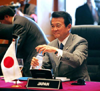 Japanese foreign minister is sure of victory