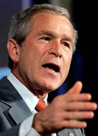 Bush says any North Korean nuclear test would threaten global peace and security