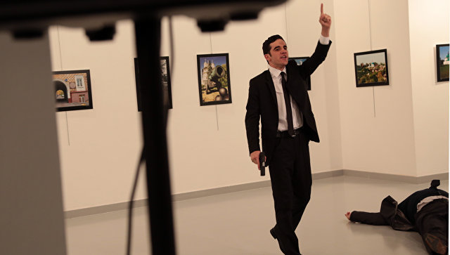 Russian Ambassador to Turkey shot dead in front of TV cameras. 59464.jpeg