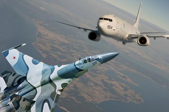 Su-27 flies too close to USA's patrol aircraft near Crimea. 60464.jpeg