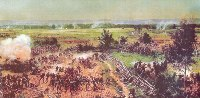 Painting depicting the Battle of Gettysburg sold