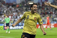 Xavi Hernandez of Spain named Euro-2008 best player