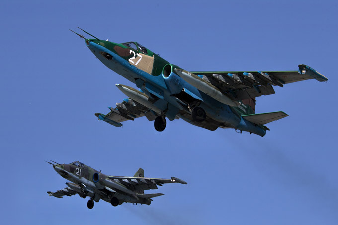 Russian Defence Ministry: Air Force starts striking IS in Syria. Russian army
